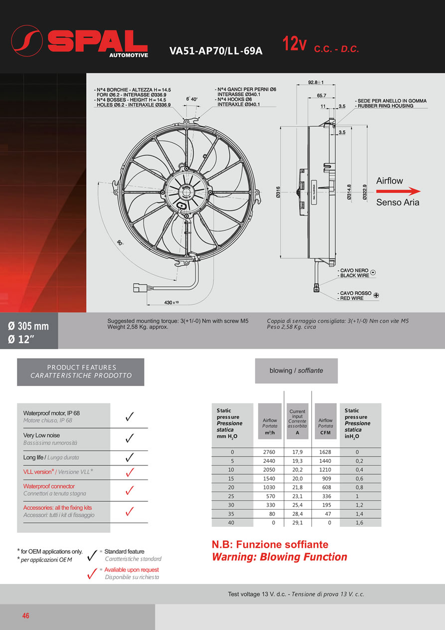 Spal Axial Fans 12v 24v Dc Catalogue Fa07 Page 46 High 106 Wiring Diagram