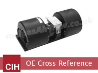CX Series Tractors  (Models: CX50 / 60 / 70 / 80 / 90 / 100) to SPAL Aftermarket HVAC blowers cross reference