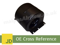 John Deere Combine Harvesters to SPAL Aftermarket HVAC blowers cross reference