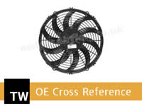 SPAL Oil Cooler Fans OE Applications Cross Reference for Twose