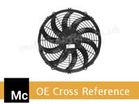 SPAL Cooling Fans OE Part Number Cross Reference for