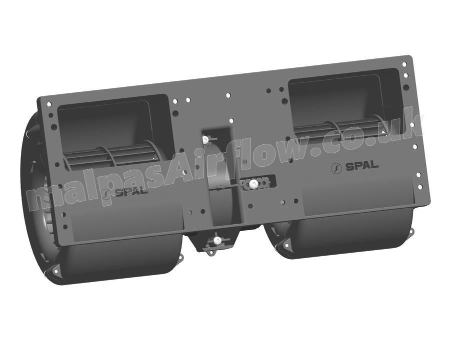 SPAL 537 cfm Double Blower 006-A46-22 (12v) (Single Speed)