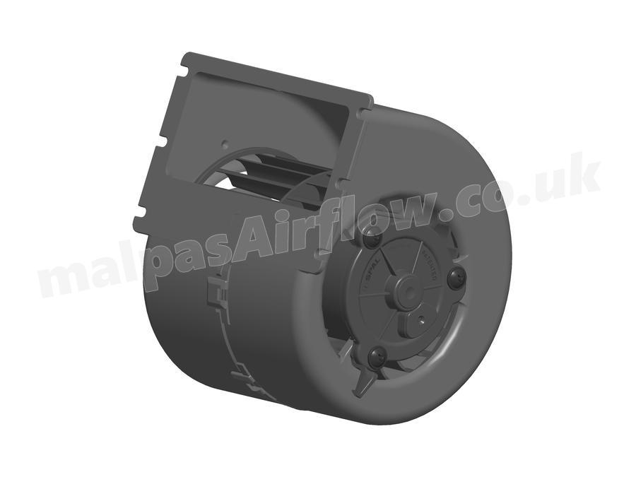 spal 153 cfm single blower 008-a100-93d (12v / 3 speeds)