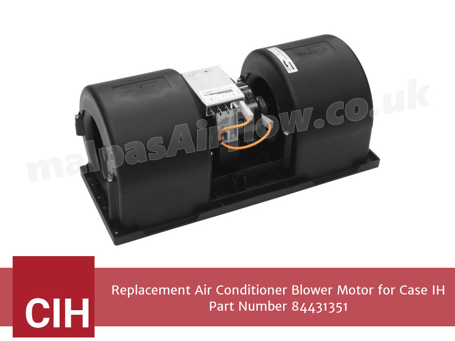 Replacement Air Conditioner Blower Motor for Case IH Part Number 84431351