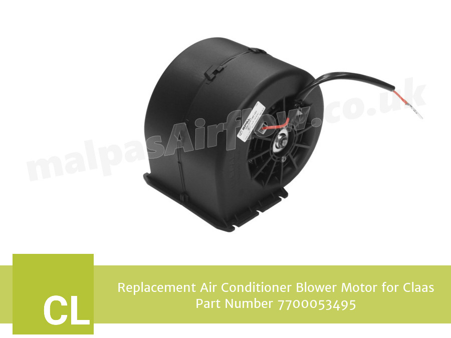 Replacement Air Conditioner Blower Motor for Claas Part Number 7700053495 (Single Speed)