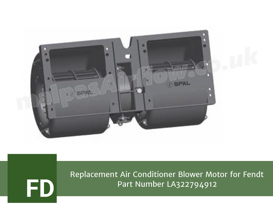 Replacement Air Conditioner Blower Motor for Fendt Part Number LA322794912 (Single Speed)