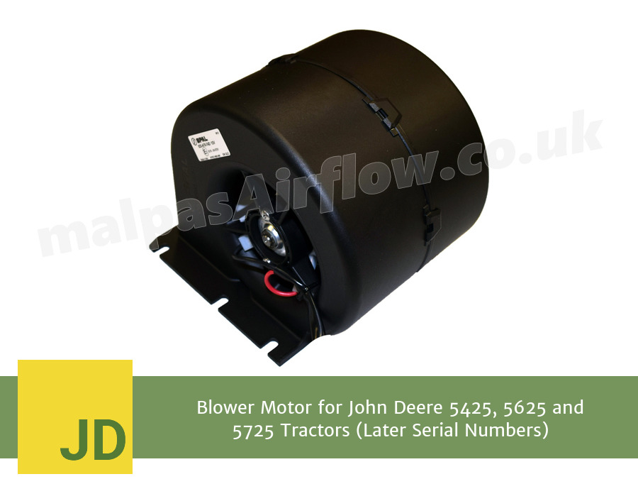 Blower Motor for John Deere 5425, 5625 and 5725 Tractors (Later Serial  Numbers) (Single Speed)