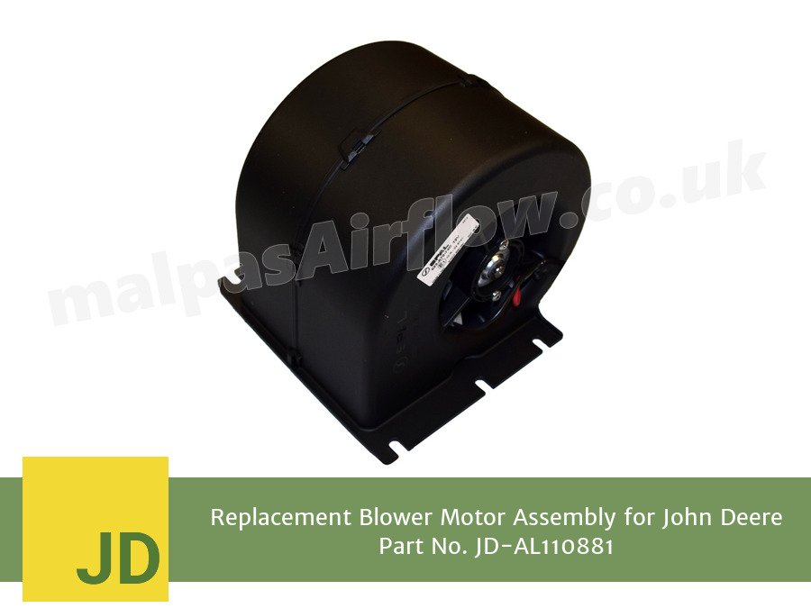 Replacement Blower Motor Assembly for John Deere Part No. AL110881 (Single Speed)