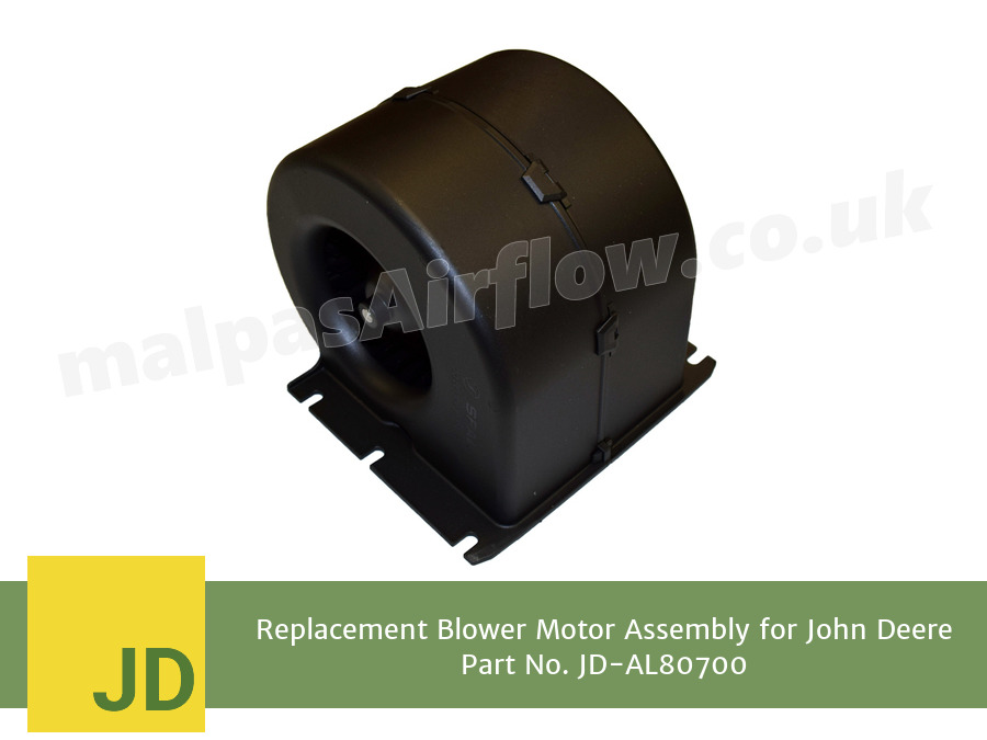 Replacement Blower Motor Assembly for John Deere Part No. AL80700 (Single Speed)