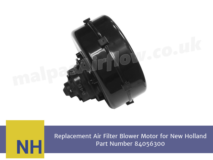 Replacement Air Filter Blower Motor for New Holland Part Number 84056300 (Single Speed)