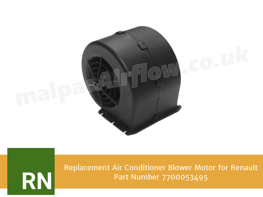 Replacement Air Conditioner Blower Motor for Renault Part Number 7700053495 (Single Speed)
