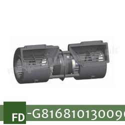Replacement Air Conditioner Blower Motor (with 3 Speed Resistor) for Fendt Part Number G816.810.130.090 (Single Speed)