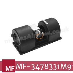Replacement Air Conditioner Twin Blower Motor for Massey Ferguson Part Number 3478331M91 - view 4