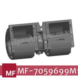 Replacement Air Conditioner Twin Blower Motor for Massey Ferguson Part Number 7059699M1 (Single Speed) - view 2