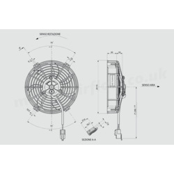 "SPAL 6"" (155mm)  Cooling Fan VA40-A100-76A (12v  / 336 cfm / Pulling) - view 2"