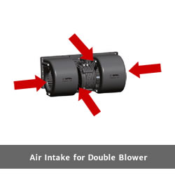 SPAL 649 cfm Double Blower 006-B40-22 (24v / 3 speeds) - view 7