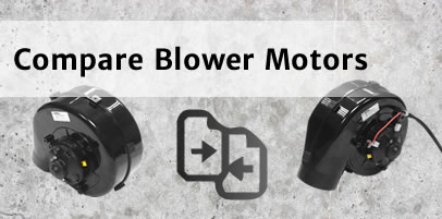 Compare blower motor modules by performance, dimensions and features