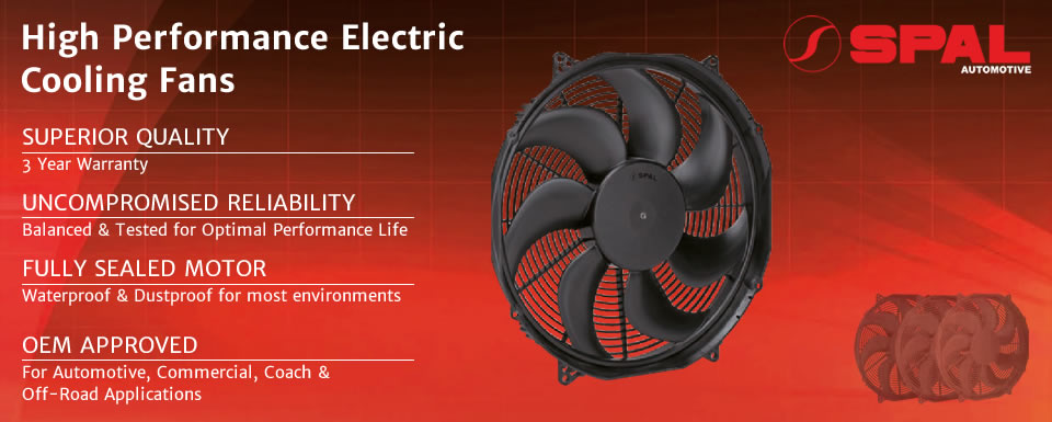 High performance electric cooling fans from SPAL