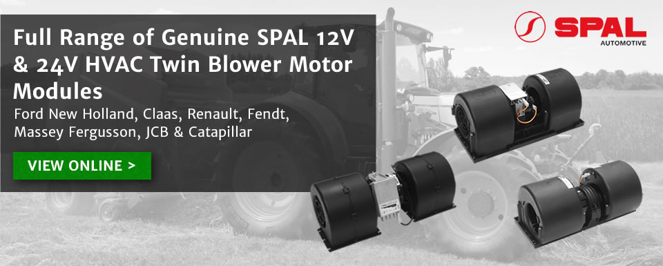 Full range of SPAL 12v and 24v HVAC twin blower motor modules
