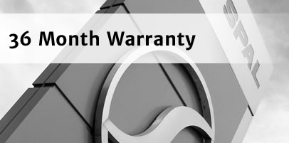 Market leading 36 Month Warranty backed by manufacturer