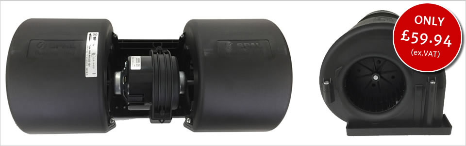 Twin blower for Ford New Holland, Case IH, Landini, Deutz-Fahr and McCormick